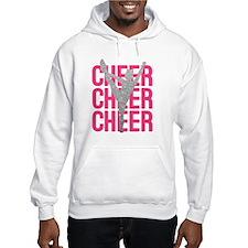 Pink Cheer Glitter Silhouette Hoodie