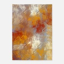 Abstract in Butterscotch, Red, and  5'x7'Area Rug