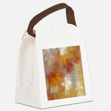 Abstract in Butterscotch, Red, an Canvas Lunch Bag