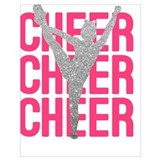Cheerleading Wrapped Canvas Art