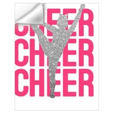 Cheerleading wall decals cheerleading wall stickers for Cheerleader wall mural