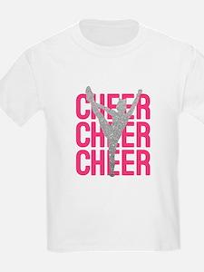 Pink Cheer Glitter Silhouette T-Shirt