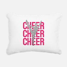 Pink Cheer Glitter Silho Rectangular Canvas Pillow