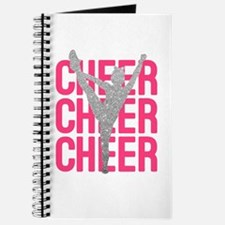 Pink Cheer Glitter Silhouette Journal