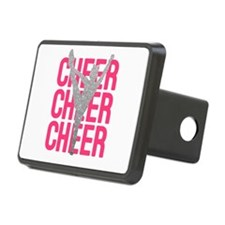 Pink Cheer Glitter Silhoue Hitch Cover
