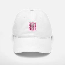 Pink Cheer Glitter Silhouette Baseball Baseball Cap