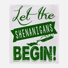 Let The Shenanigans Begin Throw Blanket
