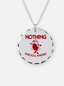 Christmas Sarcastic Santa Cl Necklace