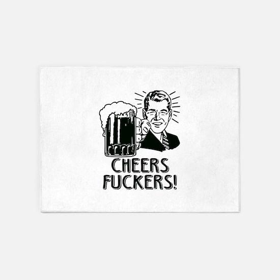 Cheers Fuckers Beer Party 5'x7'Area Rug