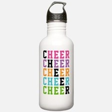 Rainbow Cheer Words Water Bottle