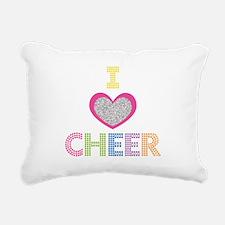 I Heart Cheer Rectangular Canvas Pillow