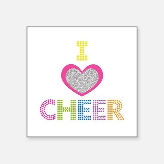 I Heart Cheer Sticker