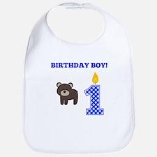 Birthday Boy Bear Bib