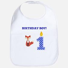 Birthday Boy Fox Bib