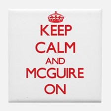 Keep Calm and Mcguire ON Tile Coaster