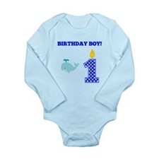 Birthday Boy Whale Body Suit