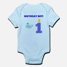Birthday Boy Whale Body Suit