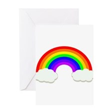 Rainbow in the clouds Greeting Cards