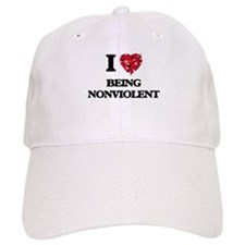 I Love Being Nonviolent Baseball Cap