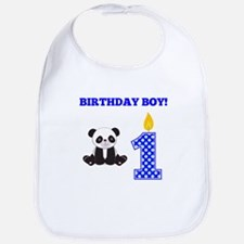Birthday Boy Panda Bib
