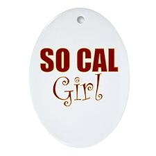 So Cal Girl Oval Ornament