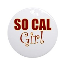 So Cal Girl Ornament (Round)