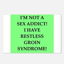 sex addict Postcards (Package of 8)