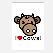 I Love Cows Postcards (Package of 8)