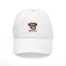 I Love Cows Baseball Cap