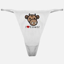 I Love Cows Classic Thong