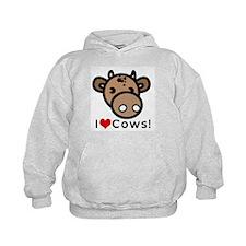 I Love Cows Hoodie
