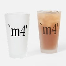 `m4' Drinking Glass