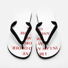 law and order Flip Flops