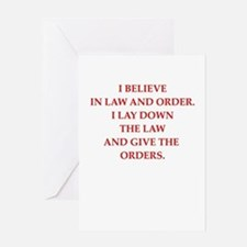 law and order Greeting Cards