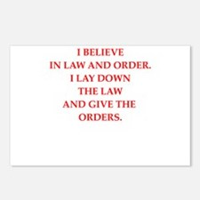 law and order Postcards (Package of 8)