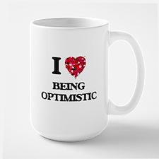 I Love Being Optimistic Mugs