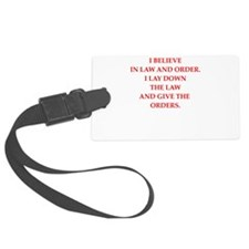 law and order Luggage Tag