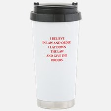 law and order Travel Mug