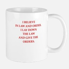 law and order Mugs