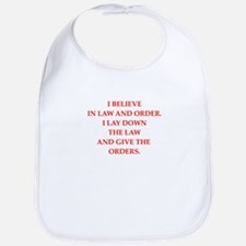 law and order Bib