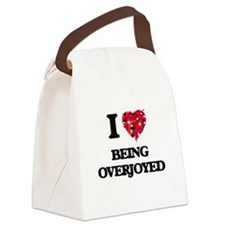 I Love Being Overjoyed Canvas Lunch Bag