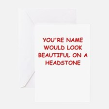 drop dead Greeting Cards