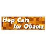 Hep Cats for Obama bumper sticker