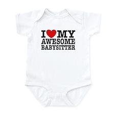 I Love My Awesome Babysitter Infant Bodysuit