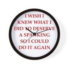 spanking Wall Clock