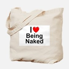 Being Naked Tote Bag
