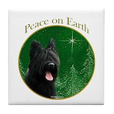 Briard Peace Tile Coaster