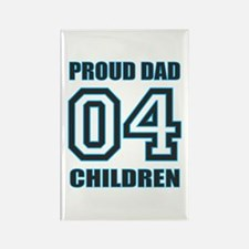 Proud Dad 4 Kids Rectangle Magnet (10 pack)