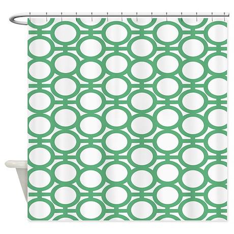 Seafoam Green Bubble Eyelets Shower Curtain By Polkadotpattern