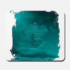 buddha in blue Mousepad